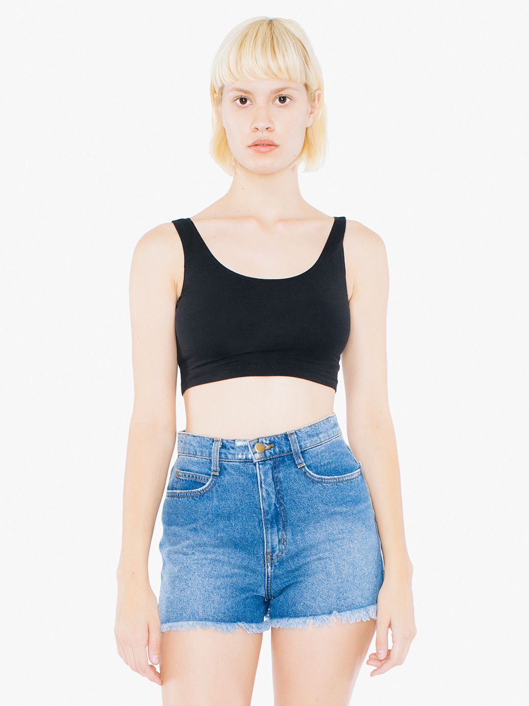 AMA Tanktop Crop Cot/Spandex For Her