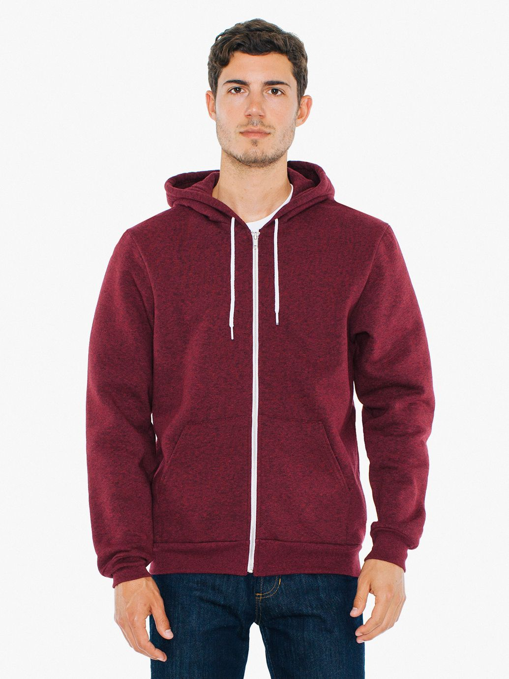 AMA Sweater Hooded Zip Salt en Pepper