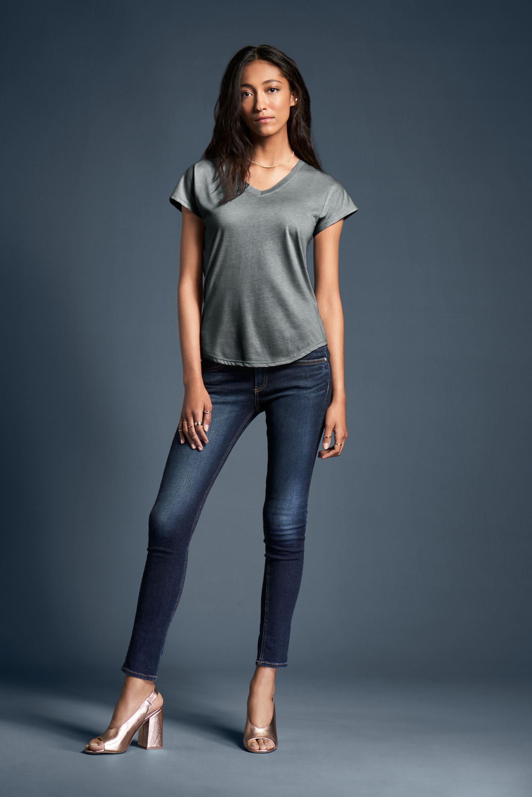 Anvil T-shirt V-neck TriBlend SS for her