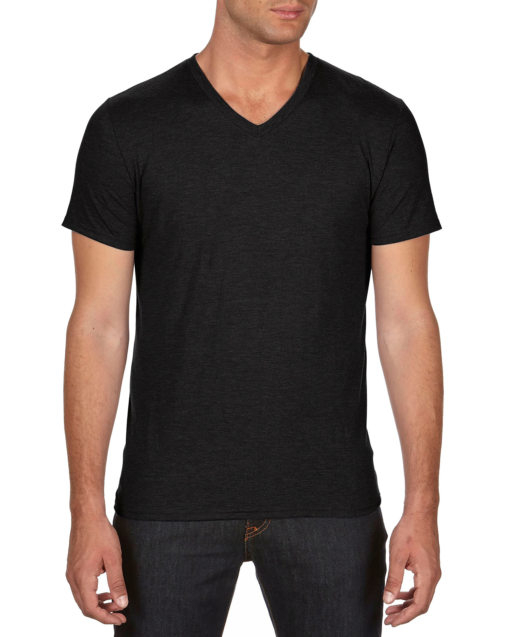 Anvil T-shirt TriBlend V-neck for him
