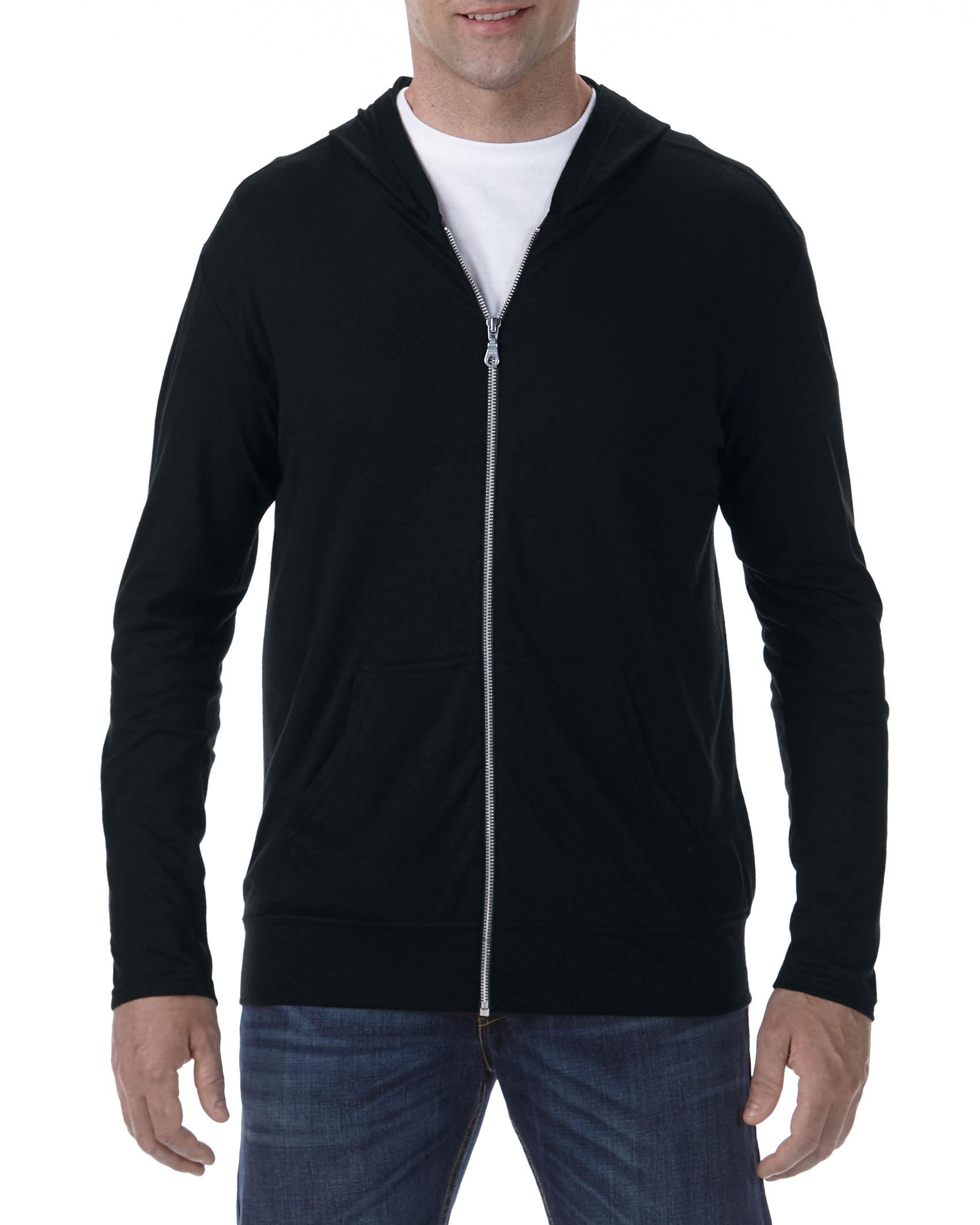 Anvil Jacket Hooded Full-Zip TriBlend for him