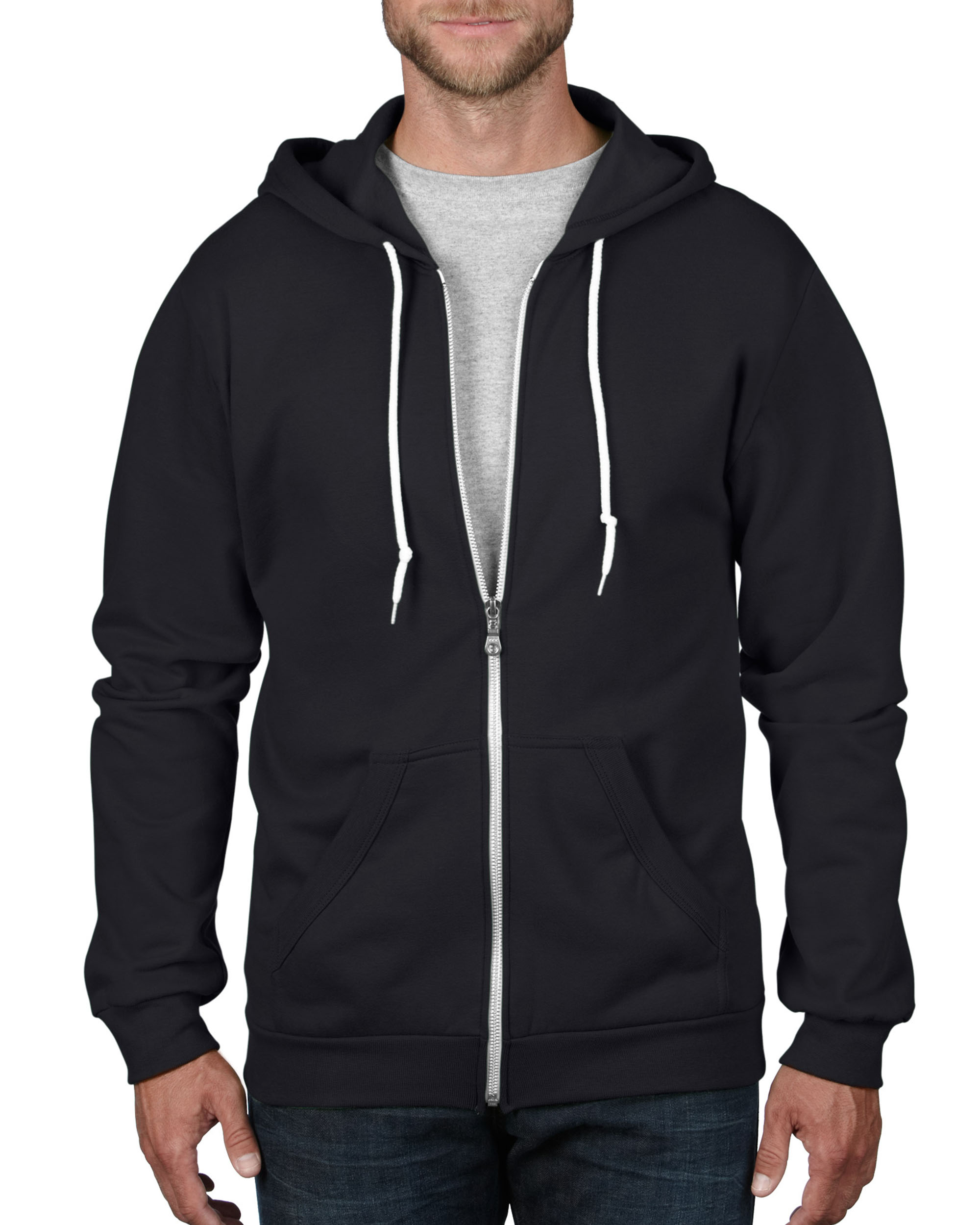 Anvil Sweater Hooded Full Zip for him