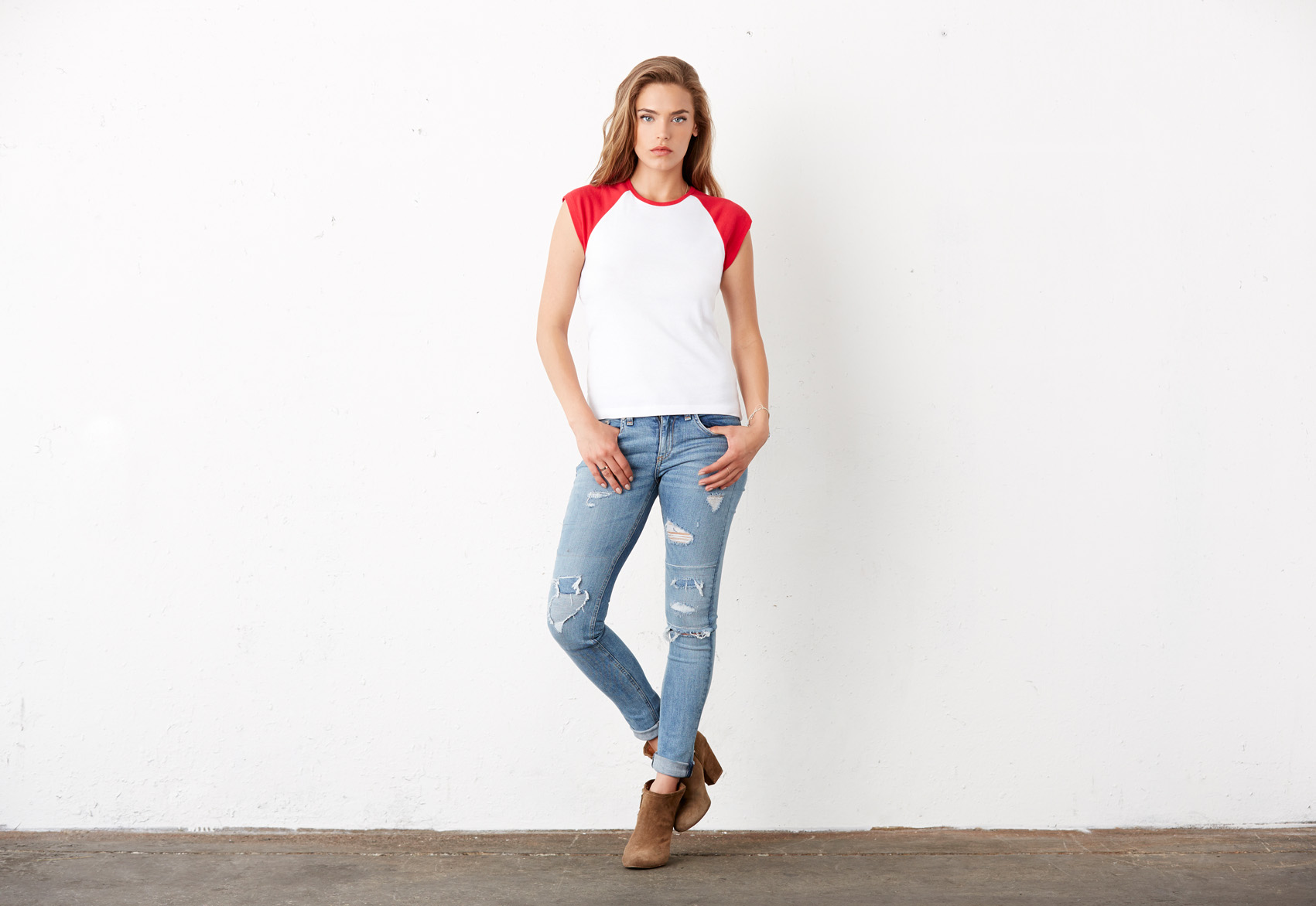 Bel+Can T-shirt Raglan Cap Sleeve
