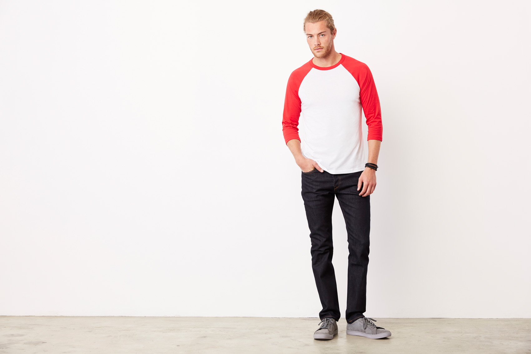 Bel+Can T-shirt Baseball 3/4 Sleeve