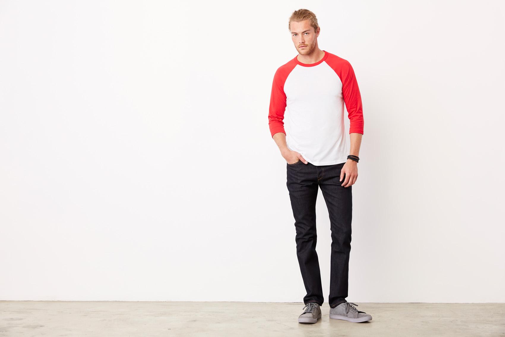 Bel+Can T-shirt Baseball 3/4 Sleeve