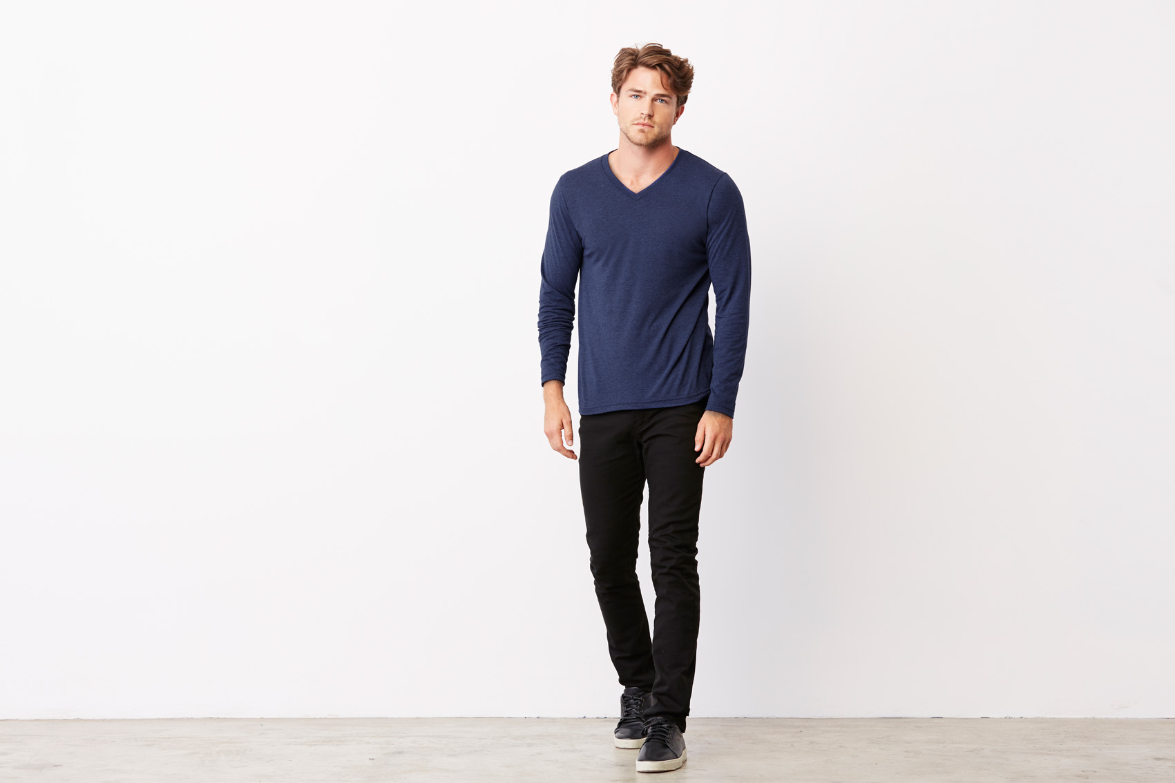 Bel+Can T-shirt V-neck Tribl LS
