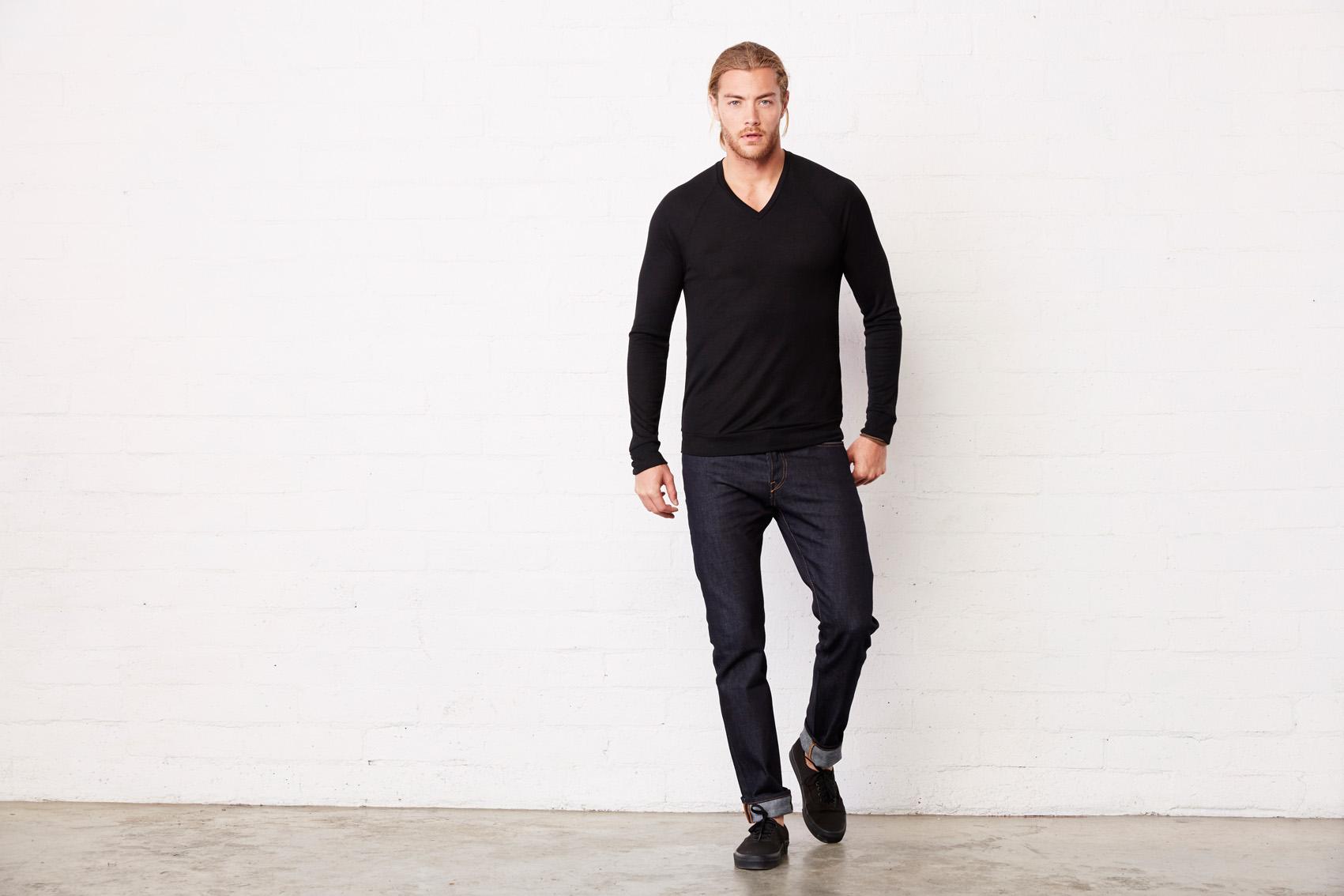Bel+Can Sweater V-neck Lightw Unisex