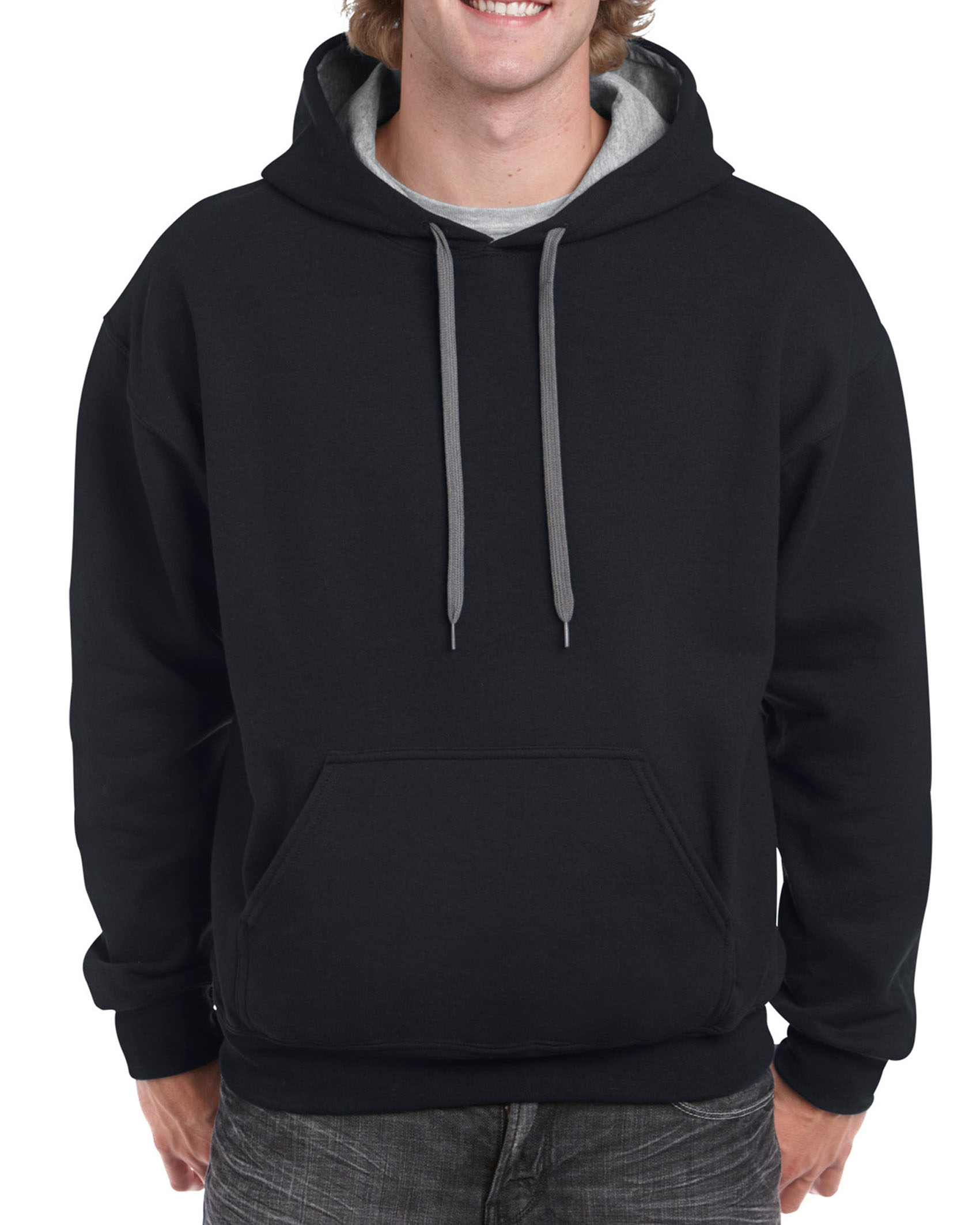 Gildan Sweater Hooded Contrast HeavyBlend