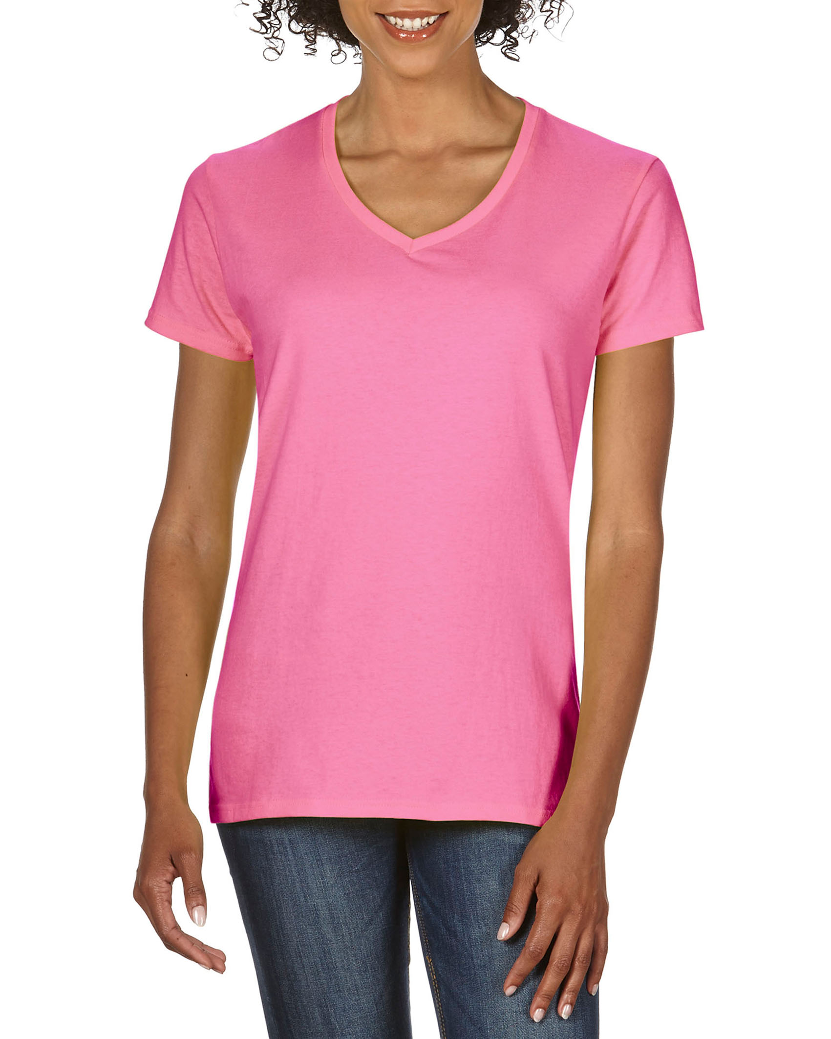 Gildan T-shirt Premium Cotton V-neck for her