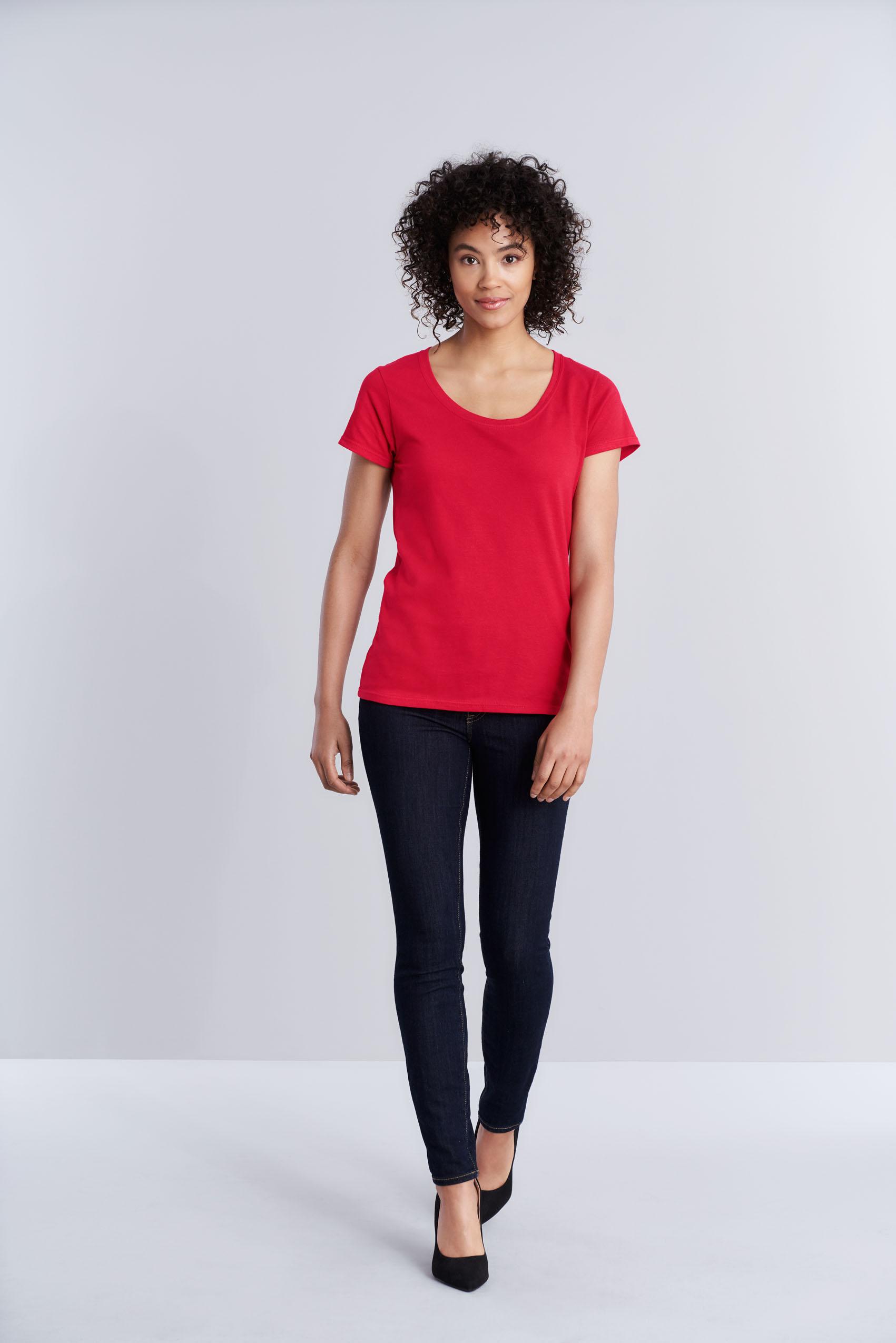 Gildan T-shirt SoftStyle Deep Scoop SS for her