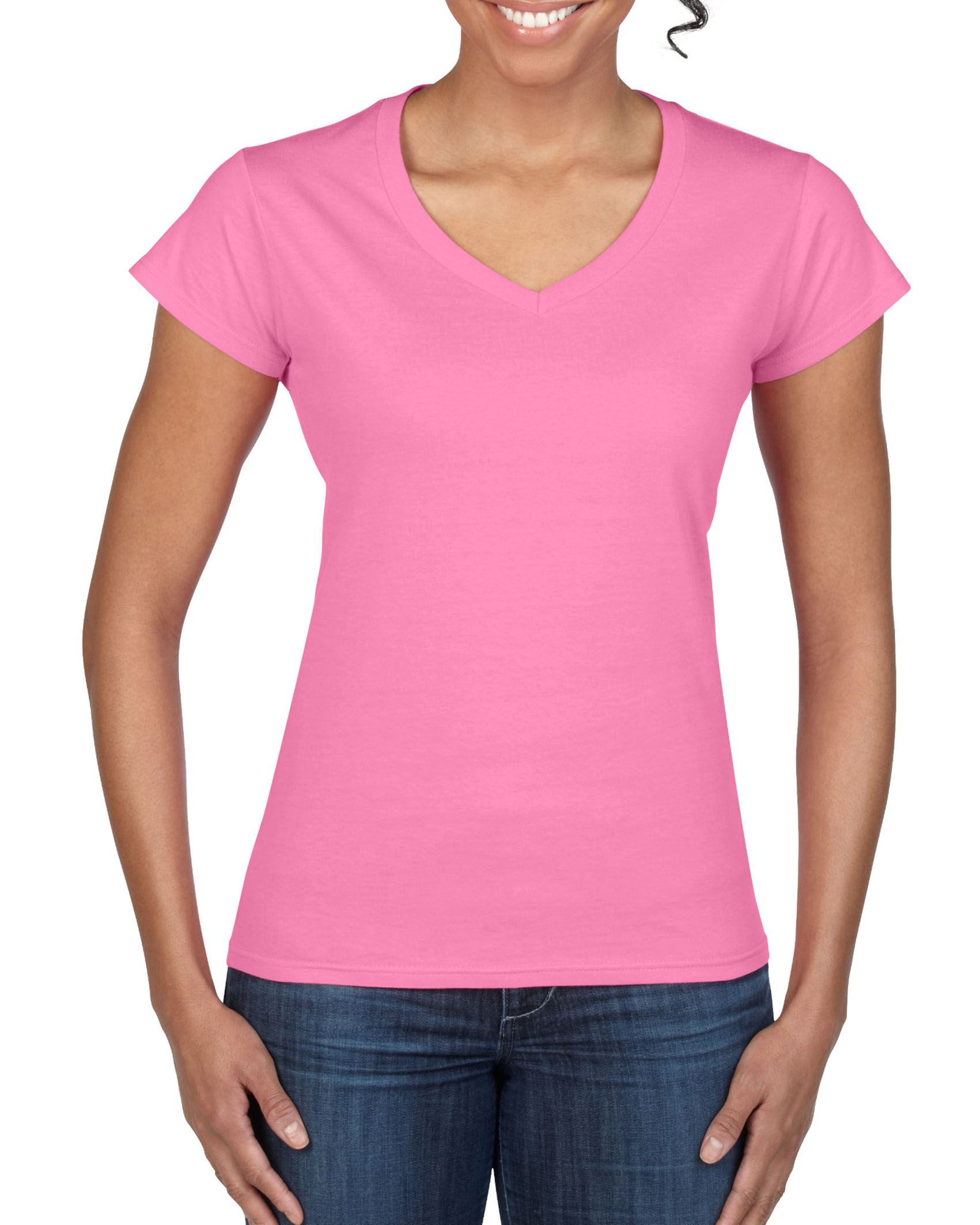 Gildan T-shirt V-Neck SoftStyle for her