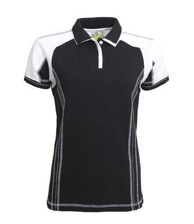 L&S Polo Contrast SS for her