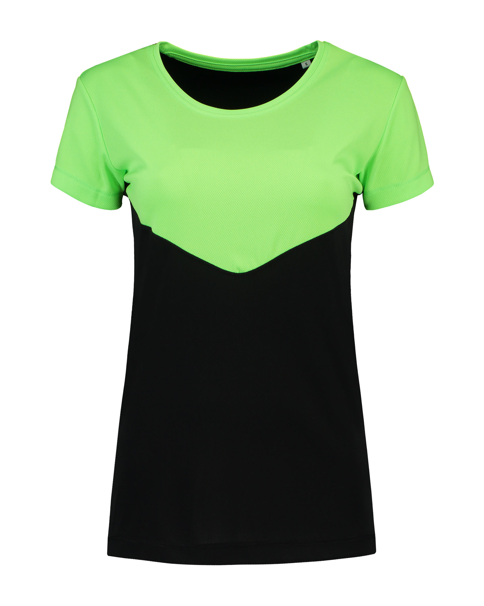 L&S T-shirt Contrast Sport SS for her